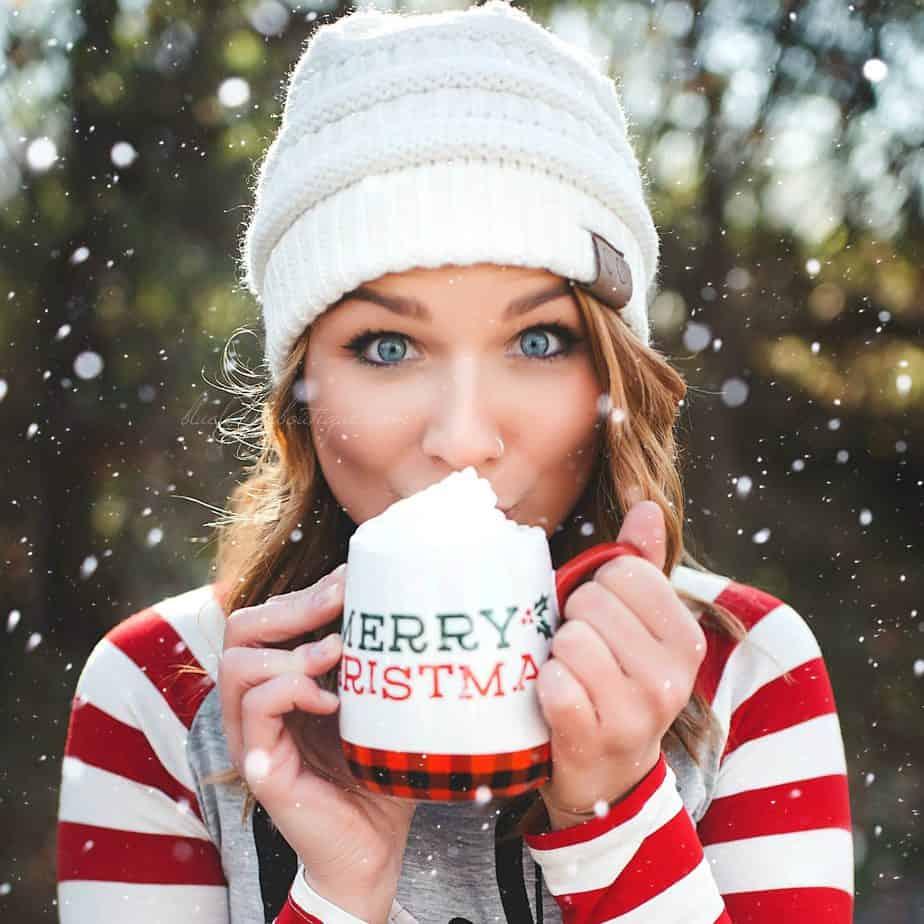 Morgan Model Holiday Photo Shoot Blue Layne