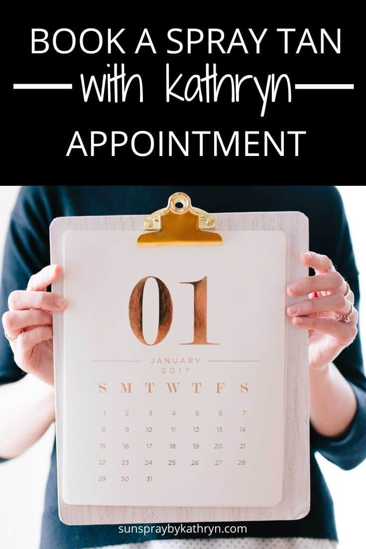 how to book a spray tan appointment