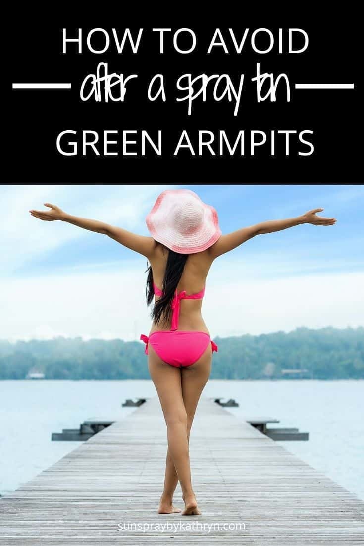 avoid green armpits after spray tan with this deodorant