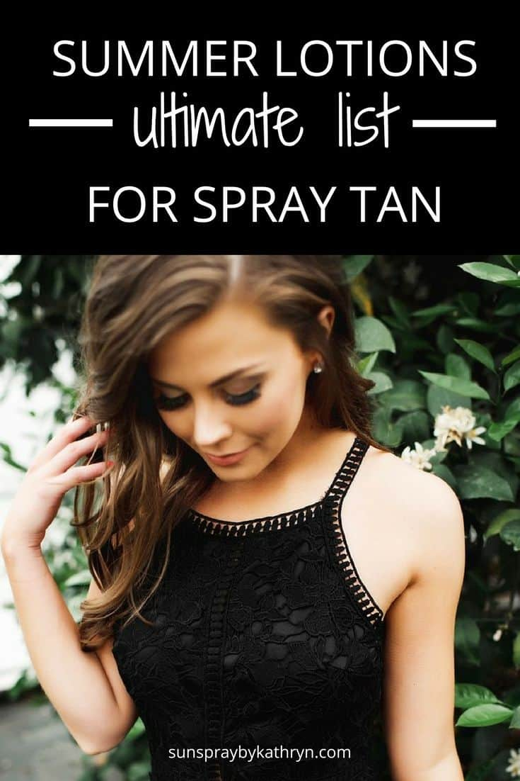 Non greasy lotion for summer spray tan amazon