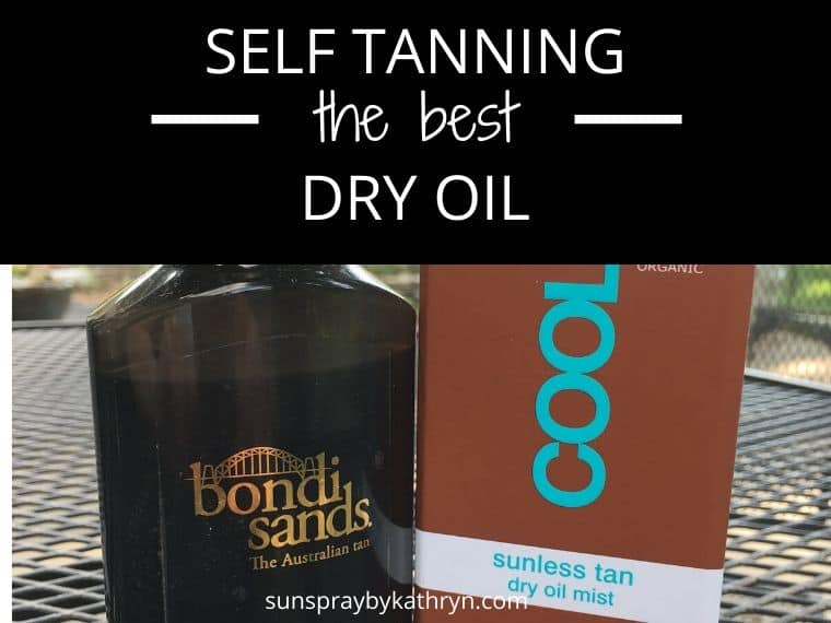 self tanning dry oil review