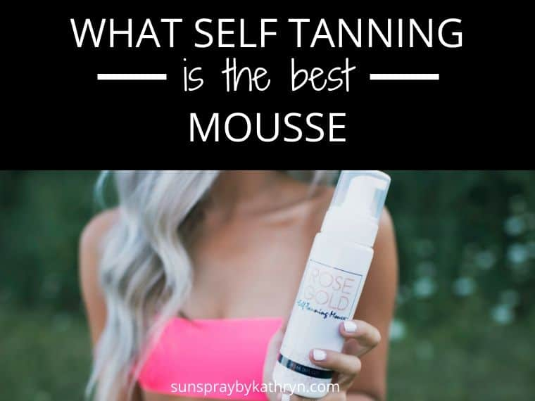 best self tanning mousse rose gold sunless